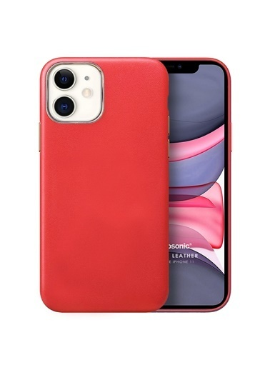 Microsonic Apple iPhone 11 Kılıf Luxury Leather Kırmızı